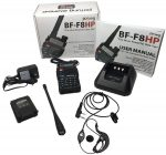 BaoFeng BF-F8HP (UV-5R 3rd Gen) 8-Watt Dual Band Two-Way Radio (136-174MHz VHF & 400-520MHz UHF) Includes Full Kit with Large Battery-2