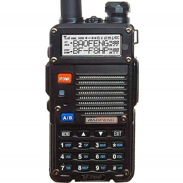 BaoFeng BF-F8HP (UV-5R 3rd Gen) 8-Watt Dual Band Two-Way Radio (136-174MHz VHF & 400-520MHz UHF) Includes Full Kit with Large Battery-5