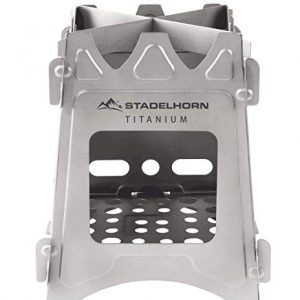 STADELHORN Titanium Minimalist Wood Stove Ultralight 100% Pure Titanium Portable & Foldable for Camping, Backpacking, Hiking, and Bushcraft Survival-1