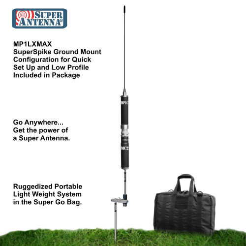 Super Antenna MP1LXMAX Deluxe Tripod 80m-10m HF +2m VHF Portable Antenna with Go Bags ham Radio Amateur-3