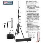 Super Antenna MP1LXMAX Deluxe Tripod 80m-10m HF +2m VHF Portable Antenna with Go Bags ham Radio Amateur-4