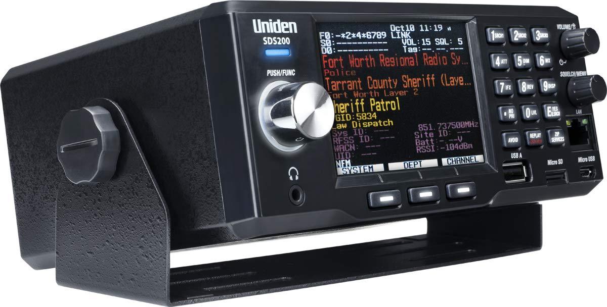 Uniden SDS200 Advanced X BaseMobile Digital Trunking Scanner, Incorporates The Latest True IQ Receiver Technology, Best Digital Decode Performance
